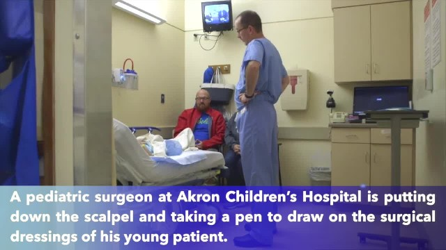 """Akron Children's Hospital surgeon creates """"dressing drawings"""" so children don't see scars"""
