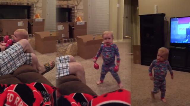 Angry Toddler Storms Into Room, Picks Hilarious Fight With Dad For Playing With Her Toys