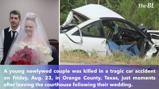 Texas newlyweds killed in car crash minutes after getting married