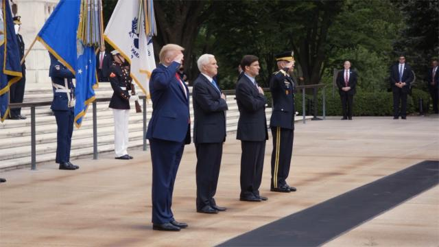 """President Trump: """"Our fallen warriors gave their last breath for our country and our freedom"""""""