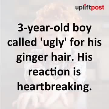 """""""3-year-old boy bullied for his 'horrible' hair – but his reaction breaks my heart """""""