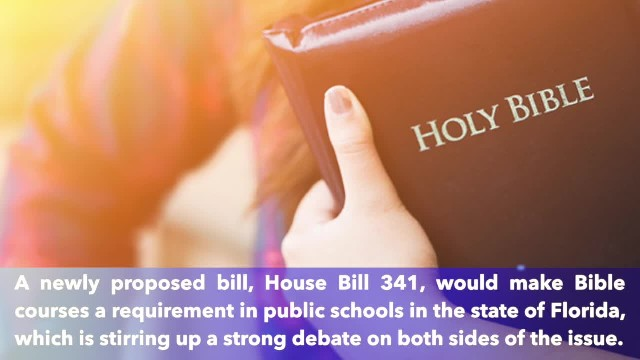 New proposed bill would require Bible classes in Florida public schools