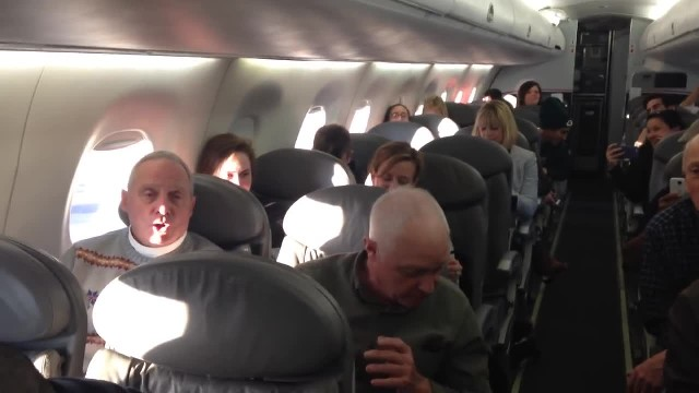 Angry passengers wait for their delayed flight only to have 4 old men craft plan
