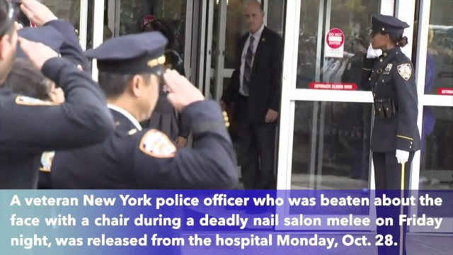 NYPD officer, put in coma following deadly brawl at nail salon, released from hospital