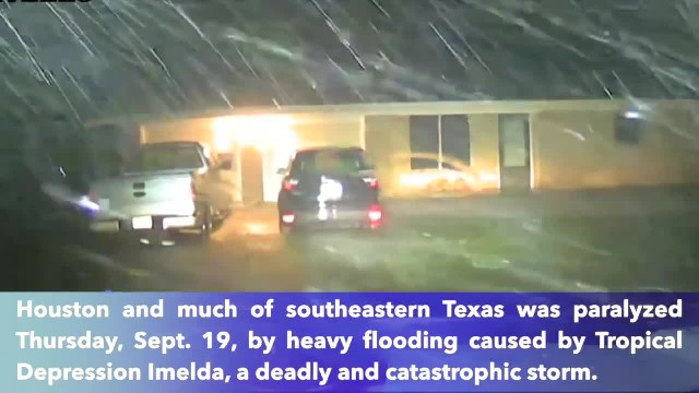 Texas paralyzed by catastrophic floods from Tropical Depression Imelda, at least one person is dead
