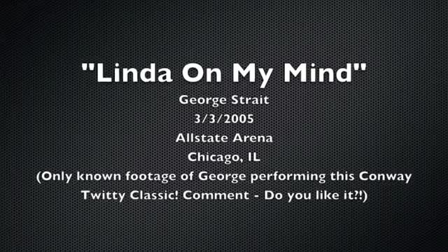 George Strait sings Conway Twitty's 'Linda on my mind,' and it's nothing short of amazing