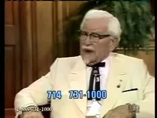 Colonel sanders tells interviewers how Jesus saved him in 1979 interview