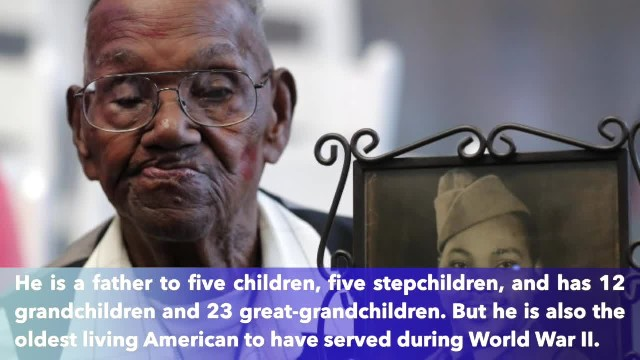 Man believed to be oldest living American WWII veteran celebrates 110th birthday