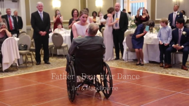 Dad can no longer walk for wedding dance only to have bride hatch plan making everyone sob