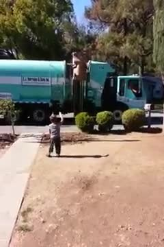 Boy with Autism Gets Surprise Gift from Trash Man   Autism Speaks