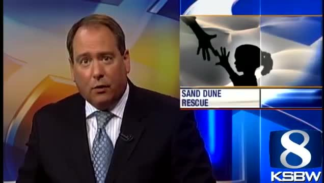 Age 11 boy finds little girl buried alive in sand dunes, starts CPR he learned by watching TV