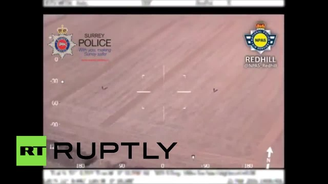 Kids form human arrow to point out suspects to police helicopter in UK