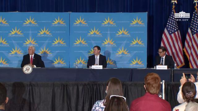Vice President Pence participates in a Libre initiative roundtable