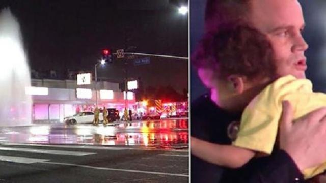 Mom vanishes from crash site, but when cop arrives, he sees 2-year-old boy alone in backseat