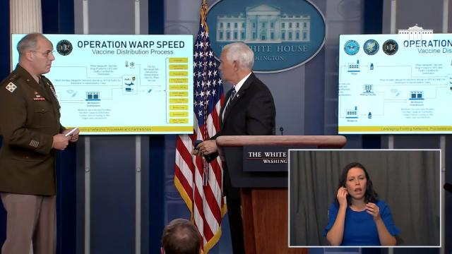 Members of the White House coronavirus task force hold a press briefing
