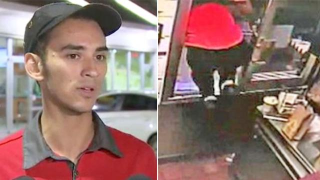 When he saw this pull up to his drive-thru, he couldn't stop himself from jumping through the window