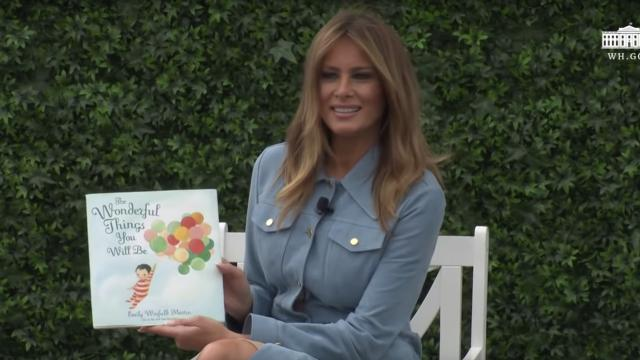 White House Easter Egg Roll Reading Nook - First Lady Melania Trump