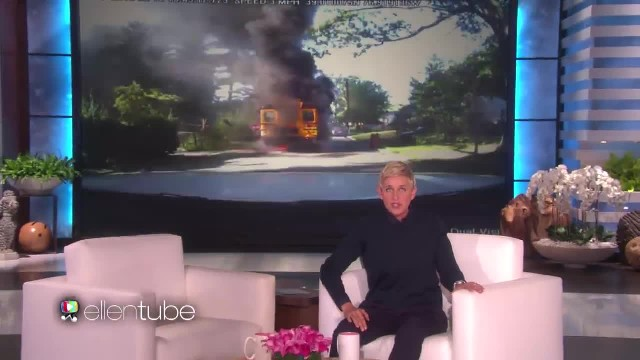 Mom Saves 20 Kids From Burning Bus And Ellen Can't Accept That She Lives Paycheck-To-Paycheck