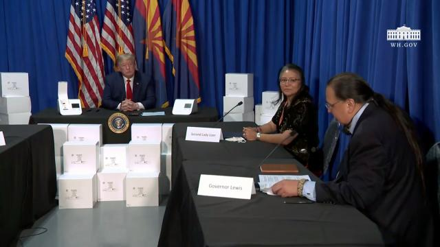 President Trump participates in a roundtable discussion on supporting native Americans