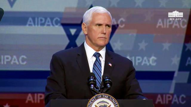 Vice President Pence delivers remarks at AIPAC