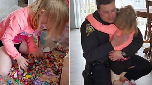 Thief wipes out 4-year-old's toy collection so cop embarks on personal mission to replace them
