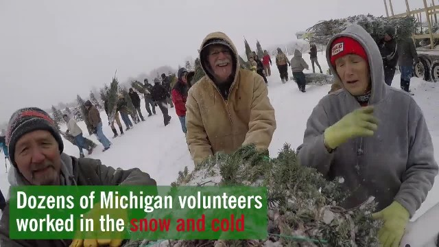 'Trees for Troops' sends over 500 Michigan trees to North Carolina