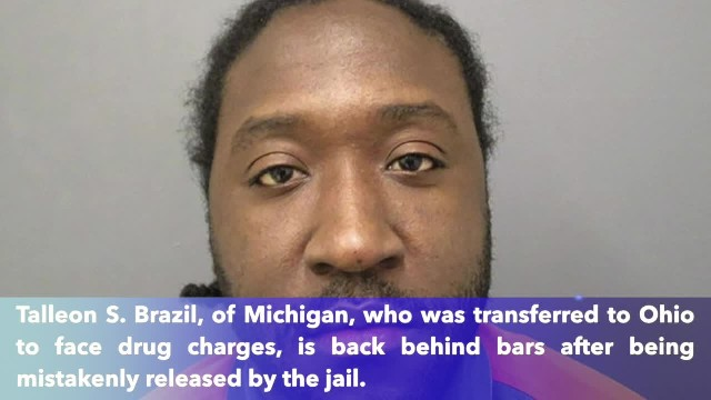 Michigan inmate back behind bars after mistaken Ohio release
