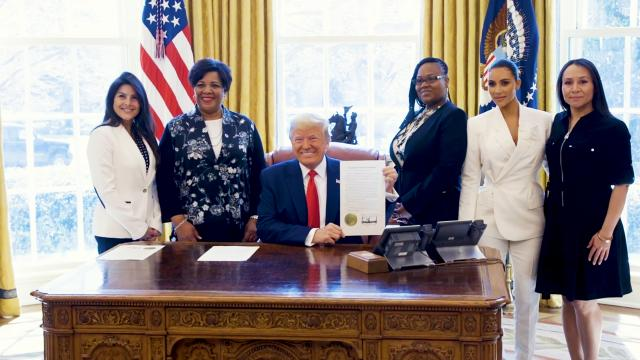President Trump meets with Clemency recipients and Kim Kardashian west