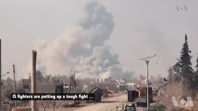 Islamic State Using Suicide Attacks, Fires to Slow Advance on Last Stronghold