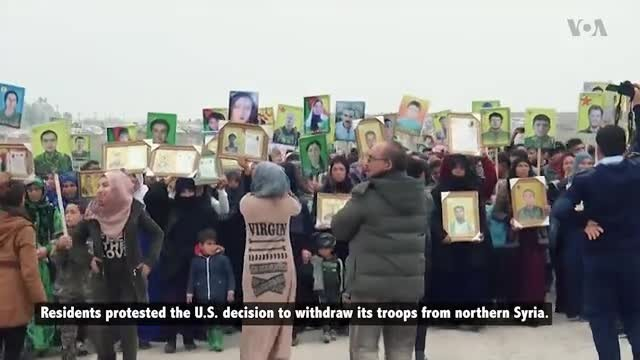 Thousands Protest American Withdrawal in Northern Syria